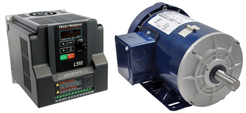 1 HP 1800 RPM 115 Volts Input Package-Dealers Electric-Marathon Motor/Teco Drive