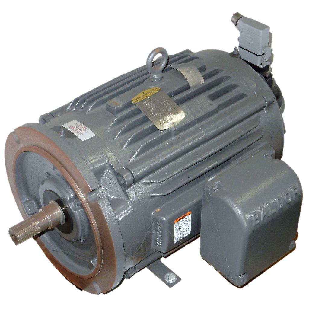 Baldor 10g872x905z1 15 hp 1200 rpm 230 460 volts tenv for Baldor 15 hp motor