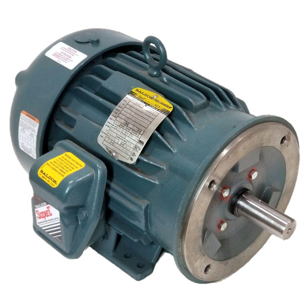 Baldor, CECP3660T, 3 HP, 3600 RPM, 230/460 Volts, TEFC, 182TC, New Surplus  Electric Motor at Dealers Industrial