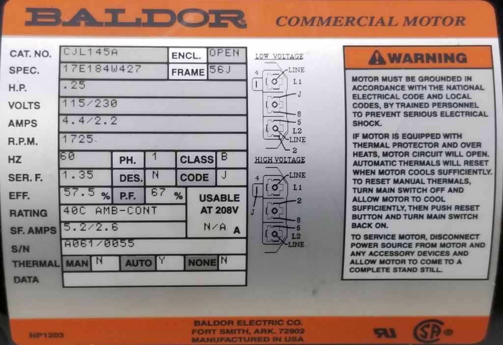 CJL145A-Baldor-Dealers Industrial