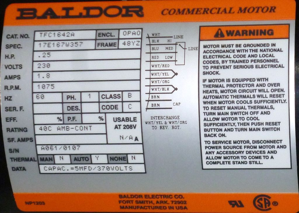 TFC1642A-Baldor-Dealers Industrial