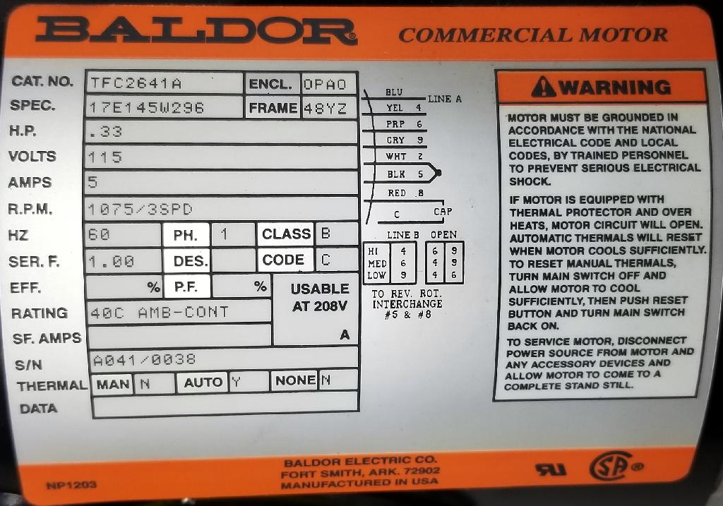 TFC2641A-Baldor-Dealers Industrial