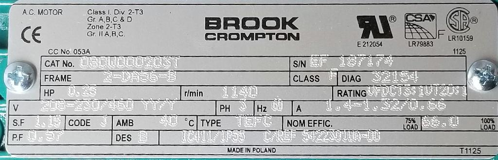 54322301WA-00-Brook Crompton-Dealers Industrial