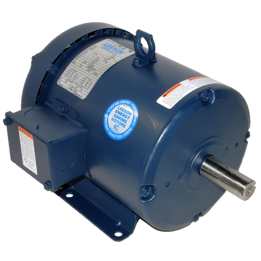Leeson 5 hp 1800 rpm 200 208 400 416 volts for 5 hp 1800 rpm motor
