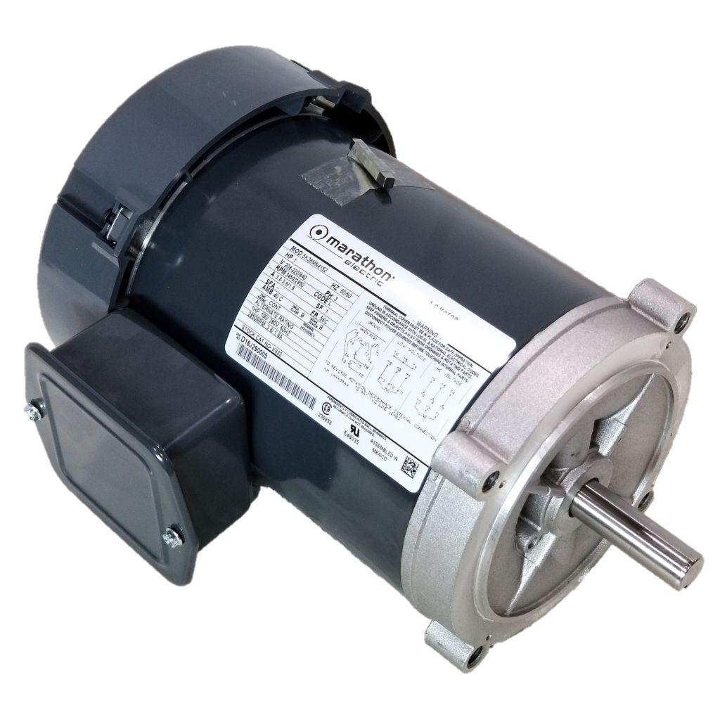 Marathon K633 1 Hp 3450 2850 Rpm 208 223 440 Volts Tefc 56c Electric Motor 3 Phase Wiring Diagram Dealers Industrial