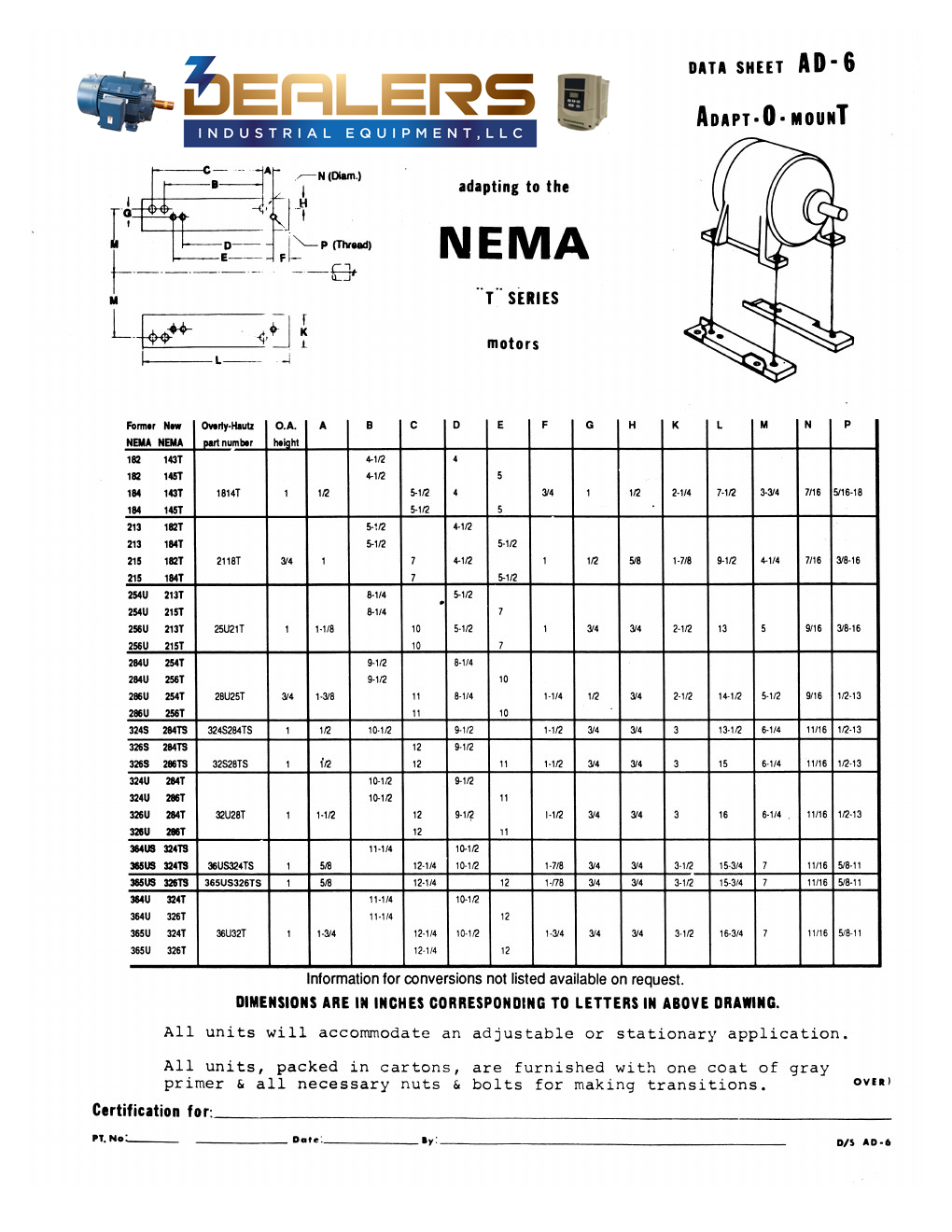 Nema If A Motor Does Not Have Frame Size On The Nameplate