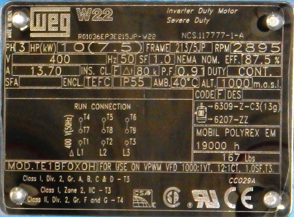 Weg W22 Motor Nameplate Impremedia Net
