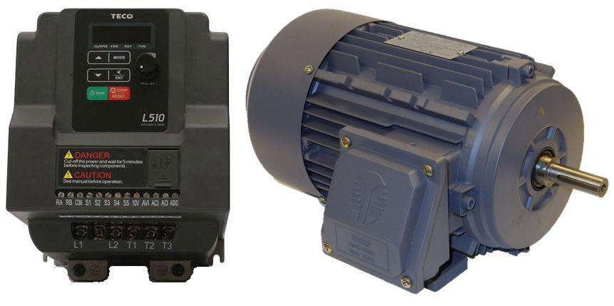 1 5 hp 1800 rpm reliance motor with 2 hp 230 volts for Vfd for 5hp motor
