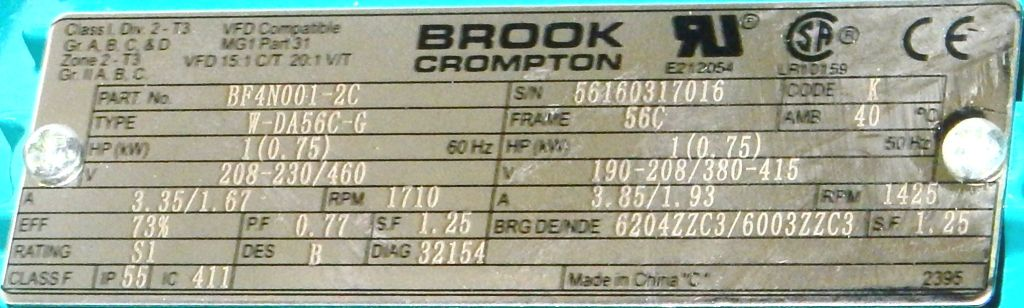 BF4N001-2C-Dealers Industrial-Brook Crompton