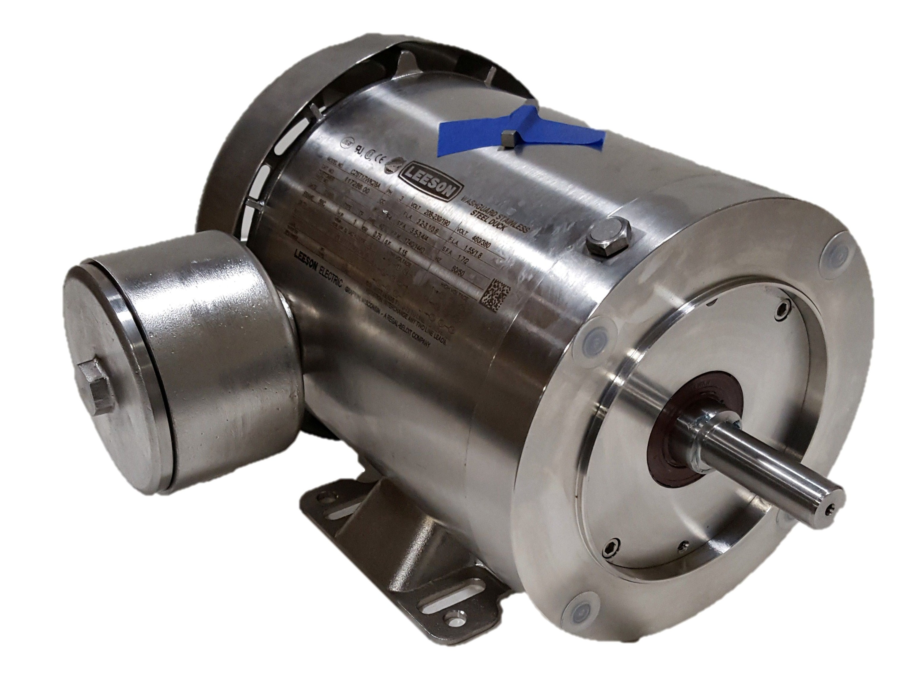 Teco westinghouse 1 hp 1800 rpm 115 volts input stainless for Teco westinghouse motor catalog