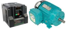 2 HP 1800 RPM 230 Volts Input Package-Dealers Industrial Equipment-Brook Motor/Teco Drive