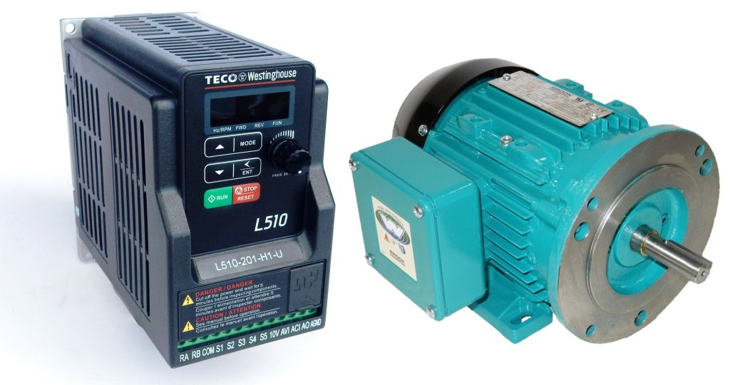 1 hp 1800 rpm jlem motor with 1 hp 230 volts teco vfd for Vfd for 1hp motor