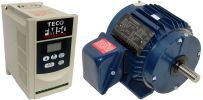 1 HP 1800 RPM 115 Volts Input Package~--Dealers Industrial Equipment-Baldor Motor/Teco Drive