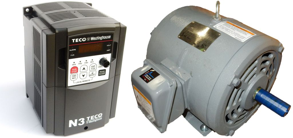 5 hp 3600 rpm g e motor with 5 hp 230 volts teco vfd for Vfd for 5hp motor