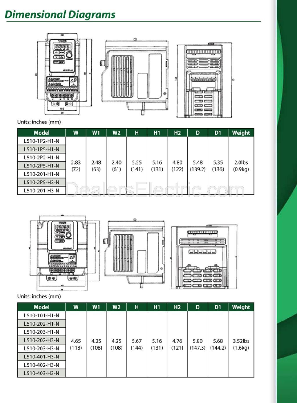 Teco Westinghouse Motor Wiring Diagram 38 Images Electric Motors L510brochure 5 L510 101 H1 1 Hp Variable Frequency Drive 115